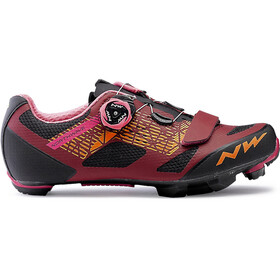Northwave Razer Shoes Damen dark red/black